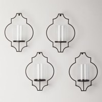 Rosaline Wall Candleholders (Set of 4)