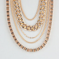 Full Tilt Layered Chain Necklace Gold One Size For Women 24235562101