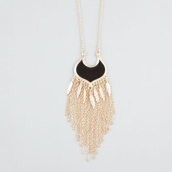 Full Tilt Fringe Epoxy Medallion Necklace Gold One Size For Women 24235662101