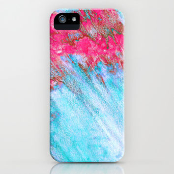 Storm in Cyan & Magenta iPhone & iPod Case by TigaTiga Artworks | Society6