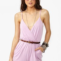 Road Trip Romper - Lilac in Clothes Bottoms at Nasty Gal