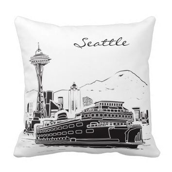 Seattle Washington Pillow