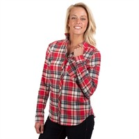 Rosette by Be Cool Juniors Plaid Flannel Shirt with Tab Sleeves at Von Maur