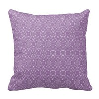 Pave Diamonds Amethyst Throw Pillow