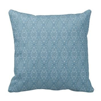 Pave Diamonds Blue Throw Pillow
