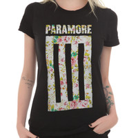 Paramore Floral Bar Girls T-Shirt