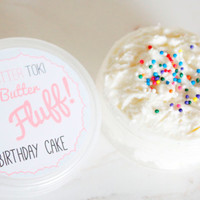 Birthday Cake Whipped Body Butter- 100% Vegan and Paraben Free 3oz