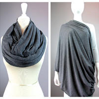 Nursing  scarf, breastfeeding wrap, breastfeeding blanket, scarf nursing cover, nursing infinity scarf, wide  scarf, Grey scarf