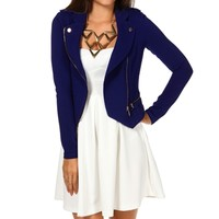 Royal Asymmetrical Moto Jacket