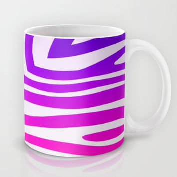 Colorful Zebra Print Mug by KCavender Designs