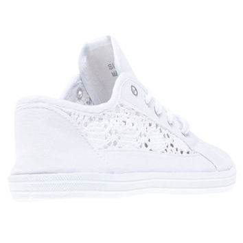 Crochet Lace-Up Sneakers | Wet Seal