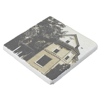 Haunted House Limestone Coaster