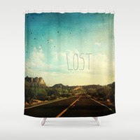 Lost Shower Curtain by Sylvia Cook Photography