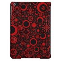 Rounds, Red-Black iPad Air Case