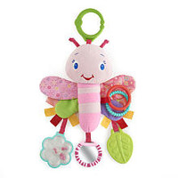 Bright Starts Flutter & Link Friend - Pretty In Pink