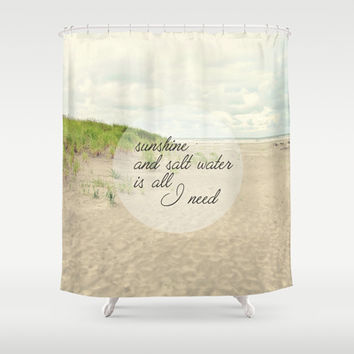 sunshine and salt water Shower Curtain by Sylvia Cook Photography
