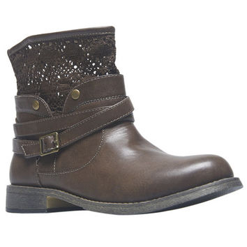Crochet & Buckle Short Boots | Wet Seal