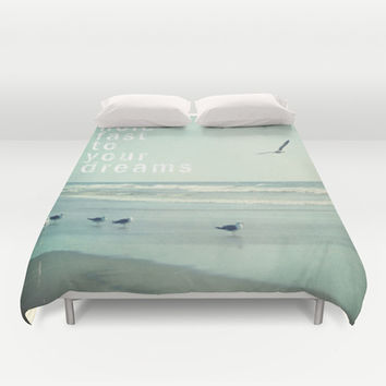 hold fast to your dreams Duvet Cover by Sylvia Cook Photography