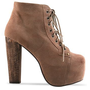 Jeffrey Campbell Lita in Taupe Suede at Solestruck.com