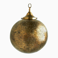 Bronze Globe Filigree Light Fixture | Shop | Project Bly