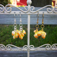 Halloween Heart Candy Corn Lover Earrings Christmas in July