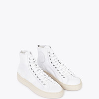 Totokaelo - Woman by Common Projects - Tournament Leather High - White