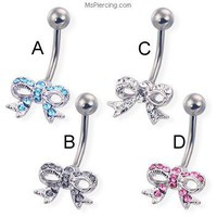 Bows belly rings