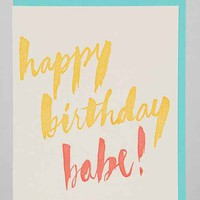 Babe Birthday Card - Urban Outfitters