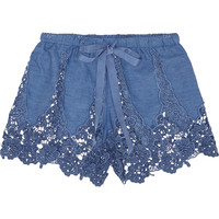 Miguelina | Gwen crocheted cotton-blend shorts | NET-A-PORTER.COM