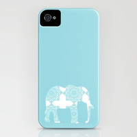 Damask Elephant in blue  on your iPhone Case  3GS 3G 4S by ialbert