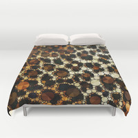 Cheetah Print Fancy Pattern  Duvet Cover by Amy Anderson