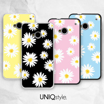 Daisy flower phone cover for HTC one m7, m8 case - htc one mini, one max case - Nokia lumia 520, 920, 1520 case - summer floral case - I24