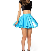 PVC SKY BLUE CHEERLEADER SKIRT - LIMITED
