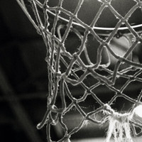 Close-up of a Basketball Net Photographic Print at Art.com