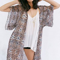Band Of Gypsies Boho Angel Maxi Kimono Jacket