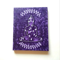 Buddha inspired  acrylic canvas painting for trendy girls room or home decor