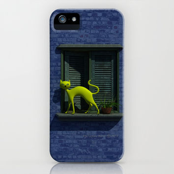 The Yellow Cat - Window - iPhone & iPod Case by THE-LEMON-WATCH | Society6