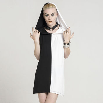 Duality Hood Dress [B] | KILLSTAR