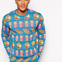 ASOS | ASOS Sweater with Food Design at ASOS