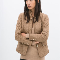 QUILTED JACKET WITH PIPING