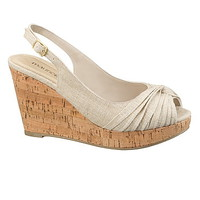 linen rachel canvas knot wedge