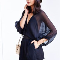 Kimchi Blue Balloon-Sleeve Romper - Urban Outfitters