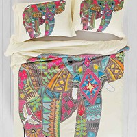 Sharon Turner for DENY Painted Elephant Duvet Cover - Urban Outfitters