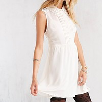 COPE Lace-Collar Button-Front Dress - Urban Outfitters