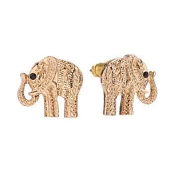 LC Lauren Conrad Elephant Stud Earrings