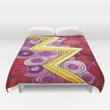 Lightning Duvet Cover by DuckyB (Brandi)