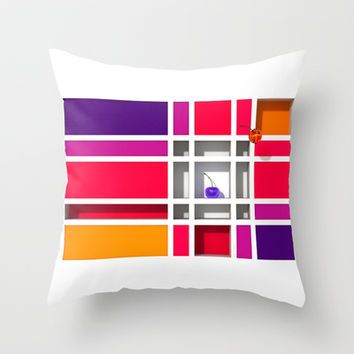 Abstract Glass Cherries 5 - Throw Pillow by THE-LEMON-WATCH | Society6