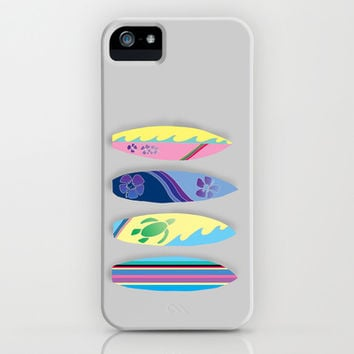 Four Surfboards iPhone & iPod Case by Catherine Holcombe | Society6
