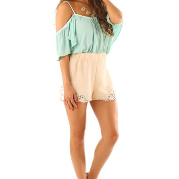 Can't Have Her Back Top: Mint