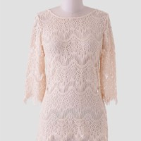 Leybourne Lace Blouse In Cream